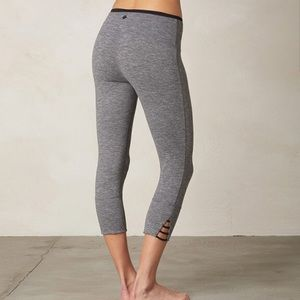 PrAna Grey tori Cropped Workout Legging Medium